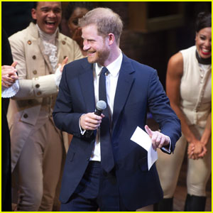 Prince Harry Sings 'Hamilton' Song Onstage in London - Watch Now!