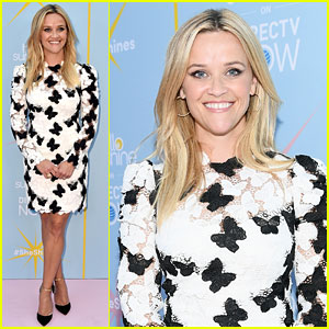 Reese Witherspoon Stuns in Butterfly Dress at 'Shine On With Reese' Launch