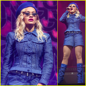 Rita Ora Hits the Stage to Perform at Ascot Racecourse!