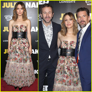 Rose Byrne, Chris O'Dowd, & Ethan Hawke Premiere 'Juliet, Naked' in NYC