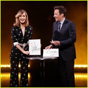 Rose Byrne & Jimmy Fallon Face Off In Intense 'Eye-To-Eye Challenge' - Watch Here!