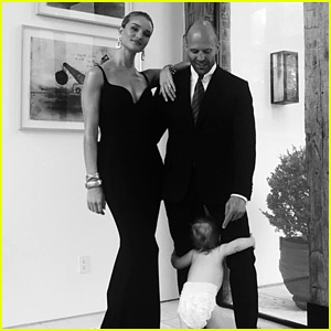 Rosie Huntington-Whiteley Shares Cute Family Photos with Jason Statham & Son Jack!