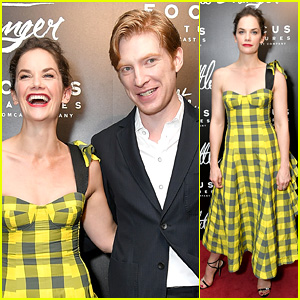 Ruth Wilson Wears Yellow Plaid to 'Little Stranger' Premiere with Domhnall Gleeson