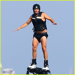 Ryan Seacrest Flies High in a Water Jet Pack on Vacation With Girlfriend Shayna Taylor!