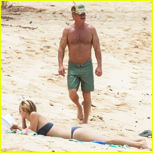 Sean Penn Goes Shirtless for Honolulu Beach Day with Girlfriend Leila George!