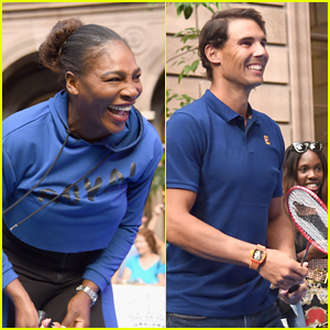 Serena Williams Battles Rafael Nadal in Badminton Tournament!