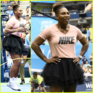 Serena Williams Jumps Rope with Kids at Arthur Ashe Kids' Day!