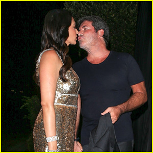 Simon Cowell Packs on the PDA With Girlfriend Lauren Silverman at His Walk of Fame Party in LA!