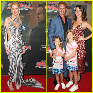 Tara Reid & Ian Ziering Hit Red Carpet for 'The Last Sharknado: It's About Time' Premiere!