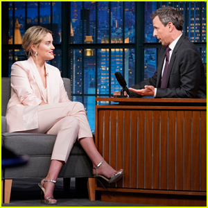 Taylor Schilling Shows Off Her Talking French Bulldog on 'Late Night' - Watch Here!