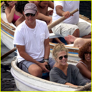 Tom Hanks & Wife Rita Wilson Enjoy a Boat Ride With Gayle King in Italy!