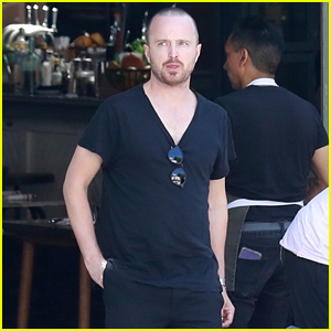 Aaron Paul & His Family Grab Lunch Together in LA