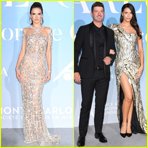 Alessandra Ambrosio Joins Robin Thicke & Pregnant Girlfriend April Love Geary at Gala for the Global Ocean