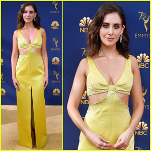 Alison Brie 'Glows' on the Emmy Awards Gold Carpet!