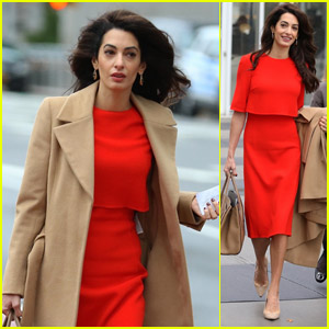 Amal Clooney Steps Out to Speak at the UN in NYC!