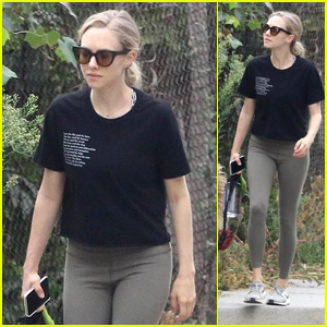 Amanda Seyfried Goes on a Walk With Her Pup Over Labor Day Weekend!