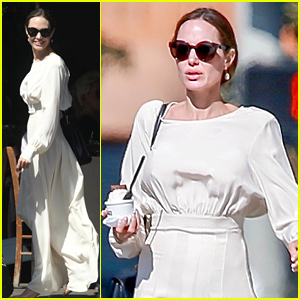 Angelina Jolie Goes Shopping & Gets Ice Cream with Son Pax