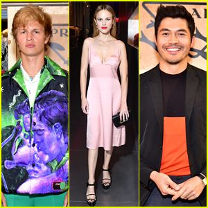 Ansel Elgort, Henry Golding, & Halston Sage Join Prada for NYFW Event