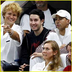 Ansel Elgort Takes Fencer Miles Chamley-Watson To US Open