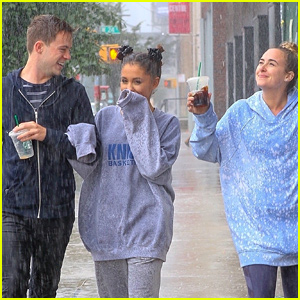 Ariana Grande & Friends Get Drenched in NYC Rain Storm