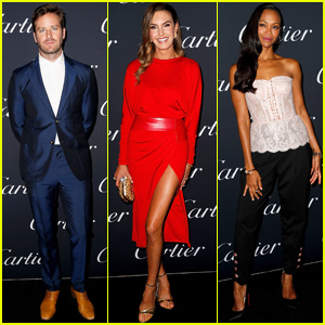 Armie Hammer & Elizabeth Chambers Join Zoe Saldana at Cartier Party