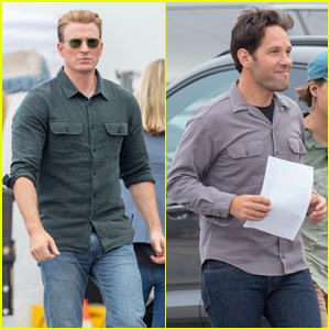 Chris Evans, Paul Rudd & Scarlett Johansson Film 'Avengers 4' in Atlanta!