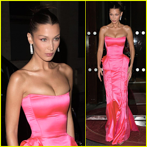 Bella Hadid Wows in Pink Gown While Stepping Out During Paris Fashion Week!