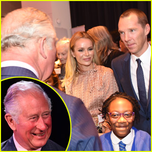 Prince Charles Meets Benedict Cumberbatch at Arts Event in London