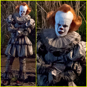 Bill Skarsgard Gets Into Character as Pennywise on 'It 2' Set!