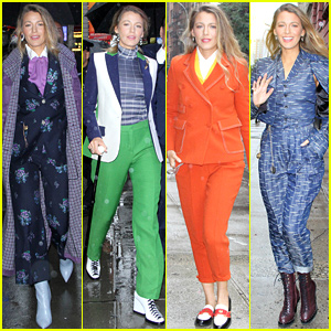 Blake Lively Wears Four Colorful Outfits for Busy Morning of Press!
