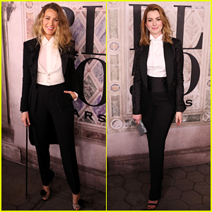 Blake Lively & Anne Hathaway Are Twinning at Ralph Lauren Fashion Show!