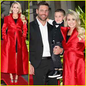 Carrie Underwood Gets Support from Hubby Mike Fisher & Son Isaiah at Walk of Fame Ceremony!