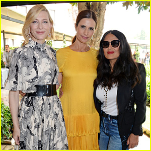 Cate Blanchett & Salma Hayek Unveil Trophy for Green Carpet Fashion Awards in Venice
