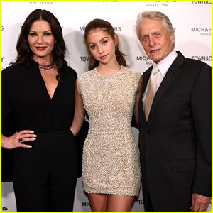 Catherine Zeta-Jones & Michael Douglas Support Daughter Carys at 'Modern Swans' Celebration