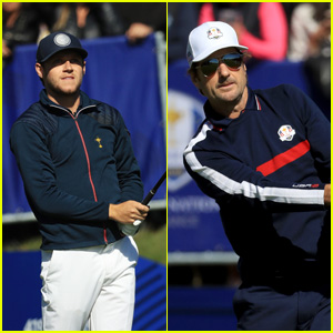 Niall Horan & Luke Wilson Play Celebrity Challenge Match at Ryder Cup 2018!