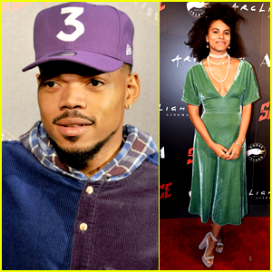 Chance the Rapper & Zazie Beetz Step Out for 'Slice' Premiere