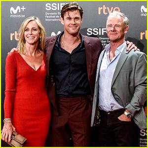 Chris Hemsworth's Parents Join Him at 'El Royale' Spain Premiere!