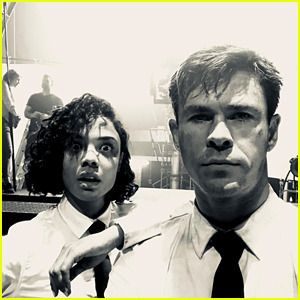 Chris Hemsworth & Tessa Thompson Share Photos from 'Men in Black' Set!