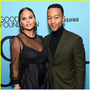 John Legend & Chrissy Teigen Attend Good+ Foundation's 'Evening of Comedy & Music' Benefit!