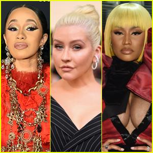 Christina Aguilera Reacts to Cardi B & Nicki Minaj's Fight