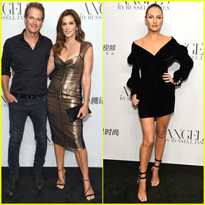 Cindy Crawford & Candice Swanepoel Host 'Angels' Book Launch Party in NYC!