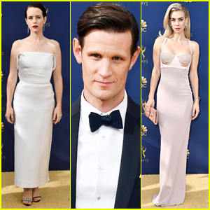 Claire Foy, Matt Smith, & Vanessa Kirby Bring 'The Crown' to Emmys 2018