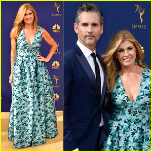 Connie Britton & Eric Bana Hit the Red Carpet Together at Emmys 2018