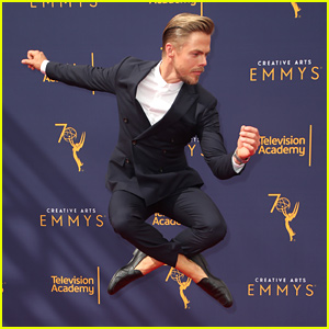 Derek Hough Dances Down the Carpet at Creative Arts Emmys