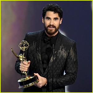 Darren Criss' 'Glee' Co-Stars Celebrate His Emmy Win!