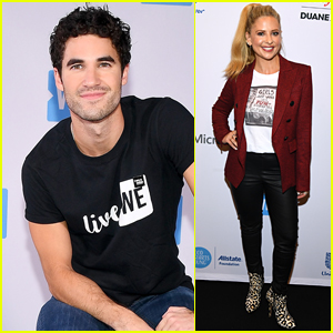 Darren Criss Hangs Out with Sarah Michelle Gellar at WE Day UN 2018 in NYC!