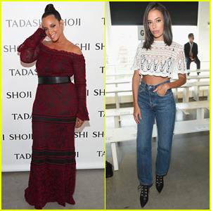 Dascha Polanco & Chloe Bridges Step Out for Tadashi Shoji NYFW Show