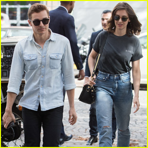 Dave Franco & Alison Brie Arrive in Paris for Fashion Week!