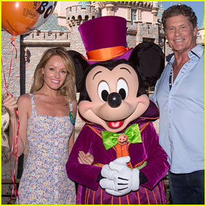 David Hasselhoff & Wife Hayley Roberts Visit Disneyland for Her Birthday!