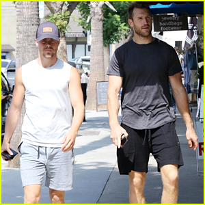Derek Hough & Brother-In-Law Brooks Laich Grab Lunch in LA!